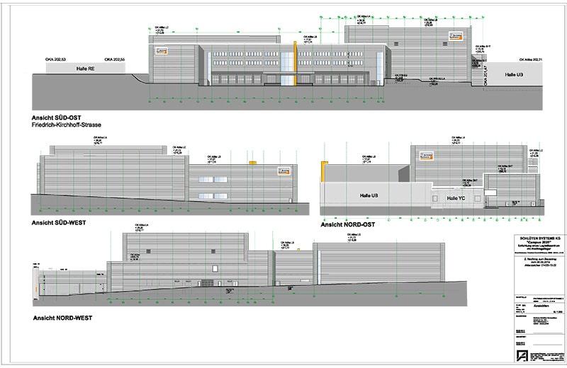 Neubau eines Logistikzentrums mit Hochregallager, Iserlohn