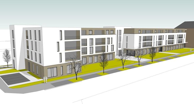 Neubau einer Wohnanlage mit Gewerbeeinheit Trier (Thyrusstraße)